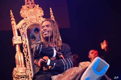Rapper Fetty Wap performs at Power 105.1's Powerhouse 2015 at Barclays Center on Oct. 22, 2015, in Brooklyn, New York.