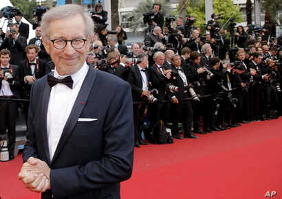 "FILE - Director and president of the jury, Steven Spielberg, arrives for the screening of ""Inside Llewyn Davis"" at the 66th international film festival, in Cannes, southern France, May 19, 2013."