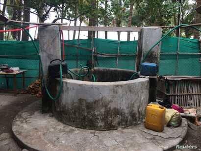 An open well used by islanders for their daily needs is seen on Kavaratti island, the capital of India's Lakshadweep islands, May 6, 2018.