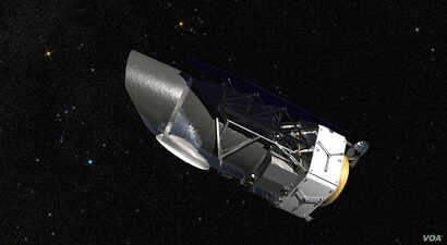 WFIRST, the Wide Field Infrared Survey Telescope, shown here in an artist's rendering, will provide astronomers with Hubble-quality images of large swaths of the sky. (NASA)