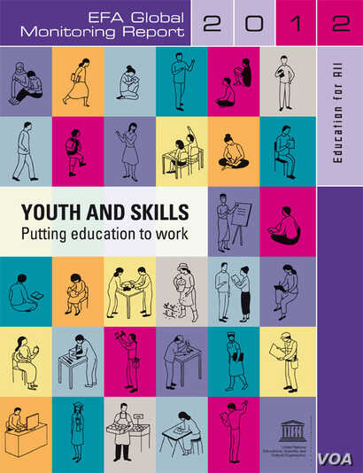 Cover for Youth and Skills Report (2012 UNESCO / Education for All)