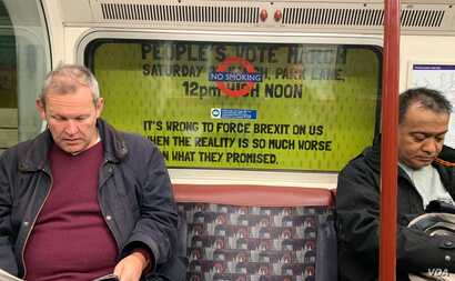 Britons can't even escape the raging Brexit debate on London's tube.