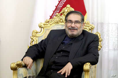 Secretary of Iran's Supreme National Security Council Ali Shamkhani, holds a meeting on Syria in Tehran, Jan. 17, 2017.