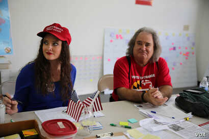 Trump supporters in Anne Arundel County, Maryland. (Photo: J. Oni / VOA)