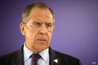 FILE - Russia's Foreign Minister Sergey Lavrov
