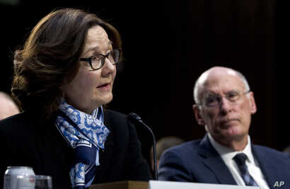 FILE - CIA Director Gina Haspel testifies before the Senate Intelligence Committee on Capitol Hill in Washington, Jan. 29, 2019.