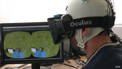Using virtual reality to learn to walk again