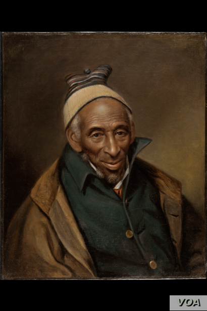 Muslim Yarrow Mamout (Muhammad Yaro) managed to buy his freedom after 44 years of enslavement. As an entrepreneur and homeowner, he continued to practice his faith. (1819 portrait Philadelphia Museum of Art)