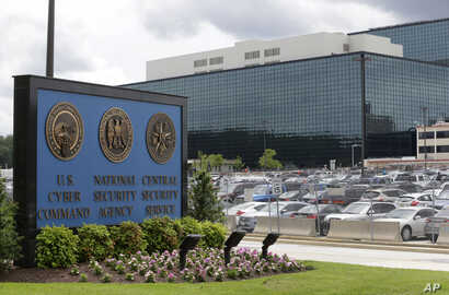 FILE - The National Security Agency (NSA) campus in Fort Meade, Maryland.