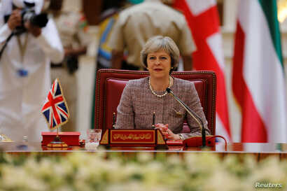 British Prime Minister Theresa May addressed the summit at the final session of the Gulf Cooperation Council, discussing mutual concerns over terrorism and Iran.