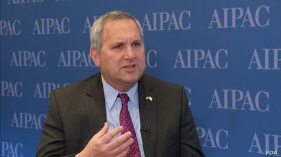 Deputy Israeli Ambassador to the U.S. Benjamin Krasna speaks to VOA Persian on the sidelines of Washington's annual AIPAC conference of American pro-Israel activists, March 25, 2019.