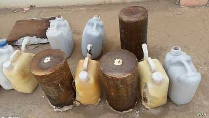 IEDs, filled with homemade explosives, have been found in a residential area in Ramadi, Iraq. (Credit: Janus Global)