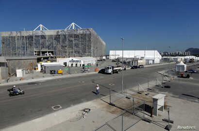 The aquatic venue is pictured at the 2016 Rio Olympic Park in Rio de Janeiro, Brazil, June 15, 2016. Picture taken on June 15, 2016.
