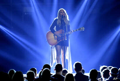 """Miranda Lambert performs """"Tin Man"""" at the 52nd annual Academy of Country Music Awards at the T-Mobile Arena, April 2, 2017, in Las Vegas, Nevada."""