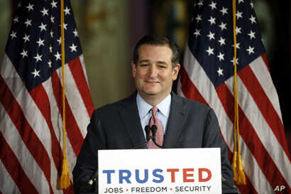 Republican presidential candidate, Sen. Ted Cruz, R-Texas, speaks during a campaign stop, April 19, 2016, in Philadelphia.