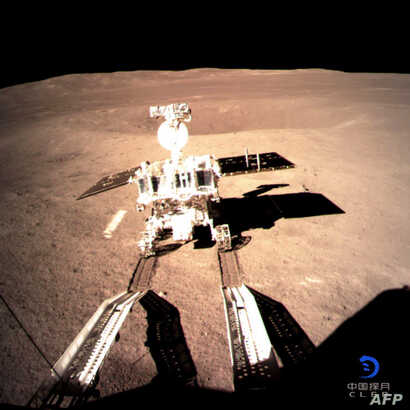 This picture taken Jan. 3, 2019, and received, Jan. 4, from the China National Space Administration (CNSA) via CNS shows a robotic lunar rover on the far side of the moon.