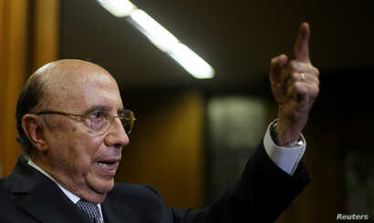 Brazil's Finance Minister Henrique Meirelles attends an interview with Reuters in Brasilia, Brazil, Feb. 21, 2017.