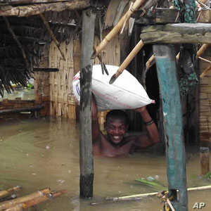 A flooded home in Antalaha