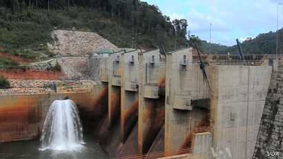 A dam on the Mekong River