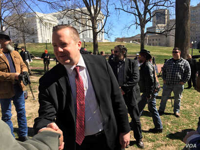 "Virginia gubernatorial candidate Corey Stewart is using President Donald Trump as a model for his race to win the Republican Party nomination for governor of Virginia. He often hang around long after events, like the ""End Sanctuary Cities Rally"" ..."