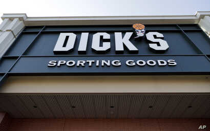 A Dick's Sporting Goods store is shown in Arlington Heights, Illinois, Feb. 28, 2018.