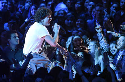Singer Charlie Puth performs during the 2018 iHeartRadio Music Awards at The Forum, March 11, 2018, Inglewood, California.