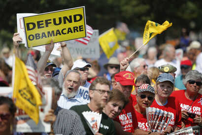 Opponents of President Barack Obama's Affordable Health Care Act rally on the west lawn of the U.S. Capitol in Washington September 10, 2013.