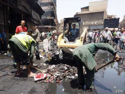 Officials say three people were killed but locals insist the death toll rose to nine in the days that followed the official announcement. May 11, 2016, Cairo.  (VOA Photo/Hamada Elrasam)