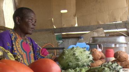 Gibson Nhema, 63, says sales of potatoes and other bread substitutes is booming.
