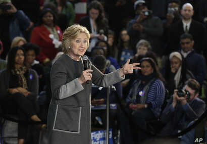 Democratic presidential candidate Hillary Clinton speaks during a campaign stop, in New York, April 6, 2016.