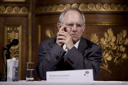 FILE - Germany's finance minister Wolfgang Schäuble.