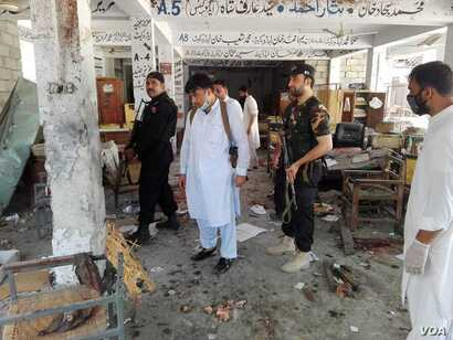 suicide bombing attack on a city of Mardan in the Khyber Pakhtunkhwa province court complex has killed at least 12 people and wounded about 50 others.  The violence happened Friday in the .