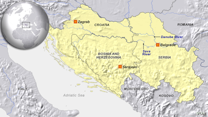 Croatia, Serbia and Bosnia-Herzegovina
