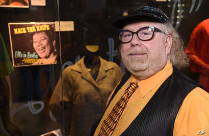 "Author Geoffrey Mark poses for a photo while attending a sneak preview of ""Ella at 100: Celebrating the Artistry of Ella Fitzgerald."