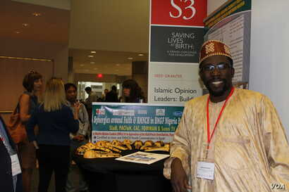 Aminu Gamawa of the Development Research and Project Center (DRPC) which seeks to build capacity for maternal, neonatal and child health in Kano City, northern Nigeria, at an annual event organized by Saving Lives at Birth, July 28, 2016. (S. Solomon...