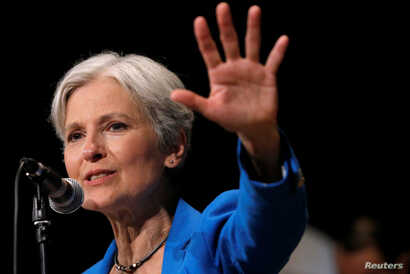 Green Party presidential candidate Jill Stein speaks at a campaign rally in Chicago, Illinois, Sept. 8, 2016.