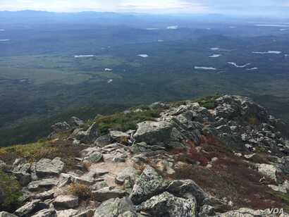 Katahdin Woods and Waters National Monument, as seen from the top of the mountain.