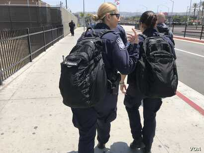 Uniformed agents are seen at the U.S.-Mexico border in this undated photo.