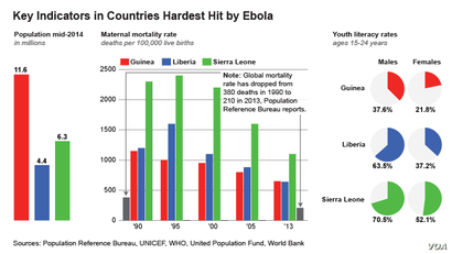 Key Indicators in Countries Hardest Hit by Ebola