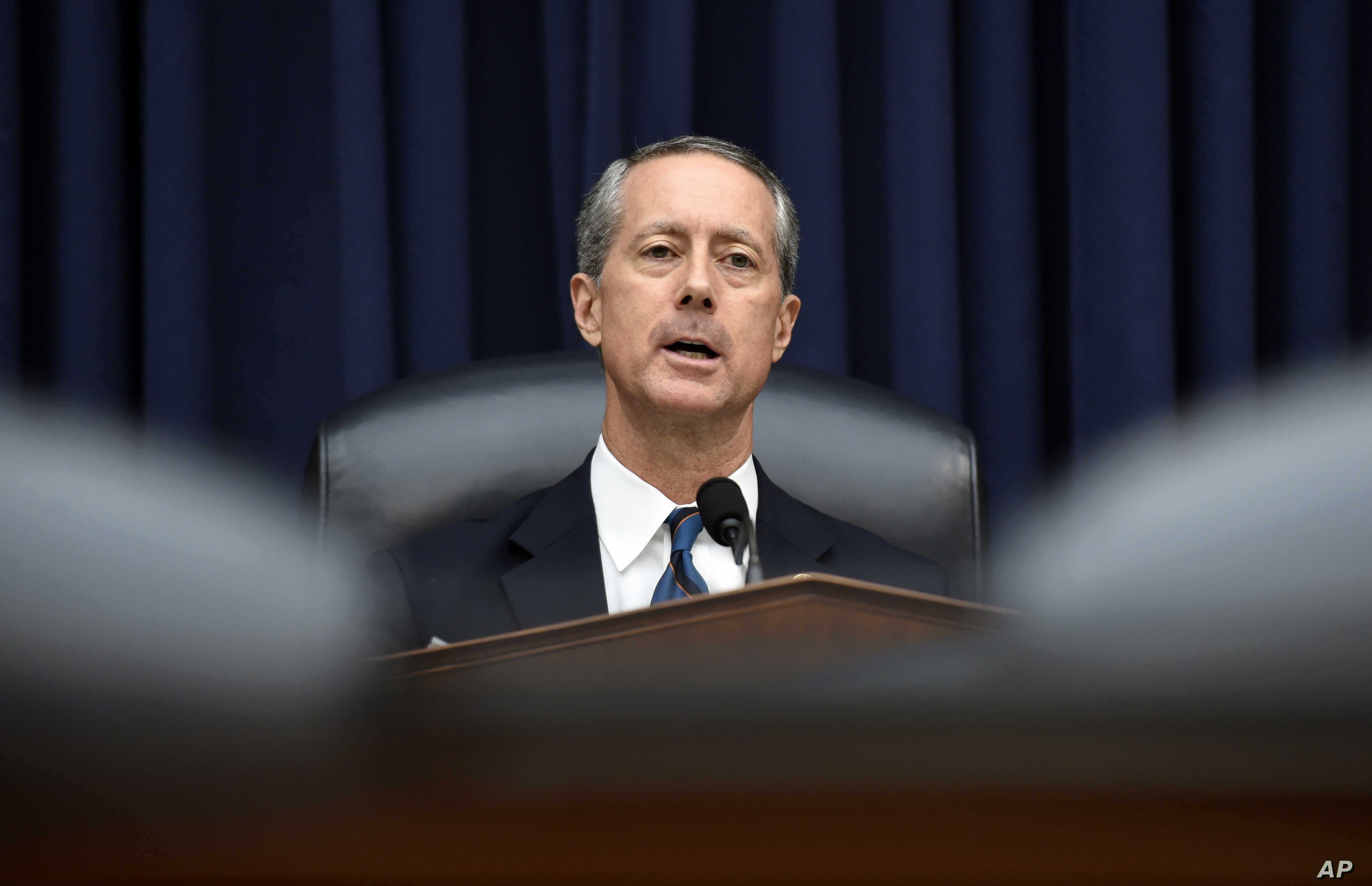 House Armed Services Committee Chairman Rep. Mac Thornberry, R-Texas., speaks during a hearing with Defense Secretary Ash Carter and Joint Chiefs of Staff Chairman Gen. Martin Dempsey on the U.S. policy and strategy in the Middle East, in Washington,...