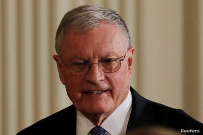 Acting U.S. National Security Advisor Retired General Keith Kellogg arrives for a joint news conference between U.S. President Donald Trump and Israeli Prime Minister Benjamin Netanyahu, Feb. 15, 2017.