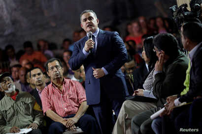 Venezuela's newly chief prosecutor Tarek William Saab attends his appointment ceremony in Caracas, Venezuela, Aug. 5, 2017.