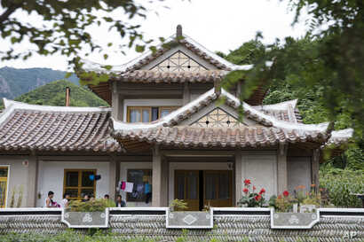 North Koreans stay at a homestay lodging near Mount Chilbo, North Korea.
