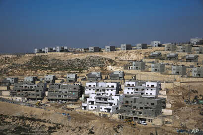 A new housing project is seen in the West Bank settlement of Naale, Jan. 1, 2019.