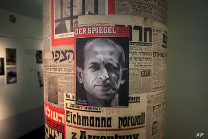 FILE - Israel has released Nazi criminal Adolf Eichmann's clemency request. Israeli President Reuven Rivlin says he hopes the letter will be displayed at the Yad Vashem Holocaust museum, which has shown other Eichmann artifacts.
