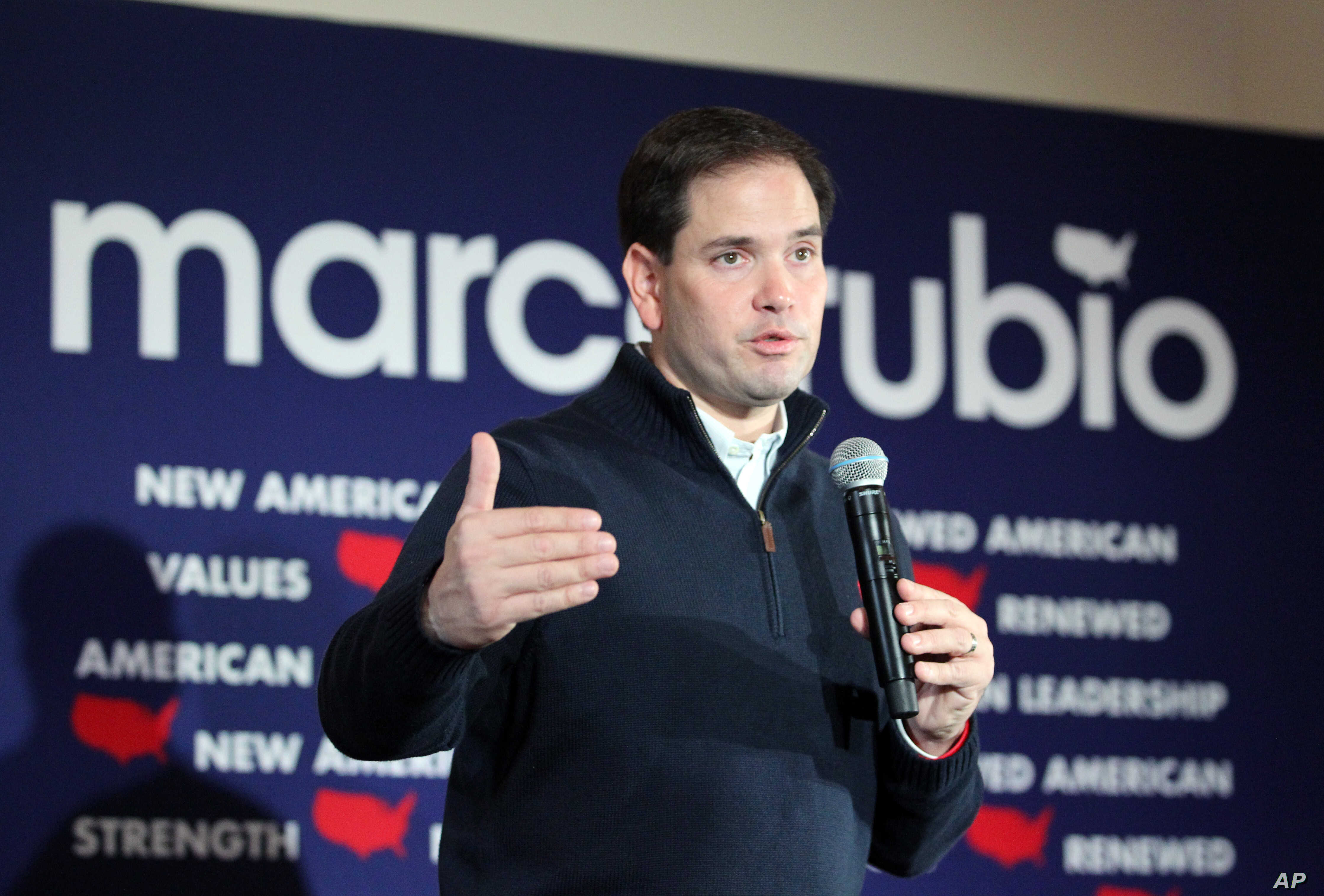 Republican presidential candidate Sen. Marco Rubio, R-Fla., speaks during a campaign stop in Rochester, New Hampshire, Dec. 21, 2015.