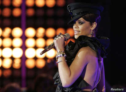 Rihanna performs at the MuchMusic Video awards in Toronto, June 15, 2008