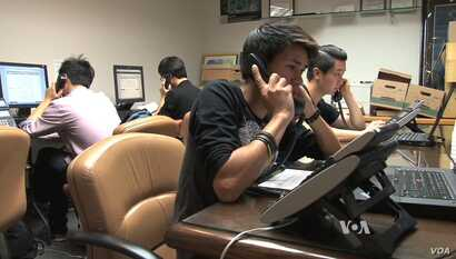 Organizations such as Asian Americans Advancing Justice-Los Angeles conducts telephone banks in several different languages to encourage people to register to vote and go to the polls.