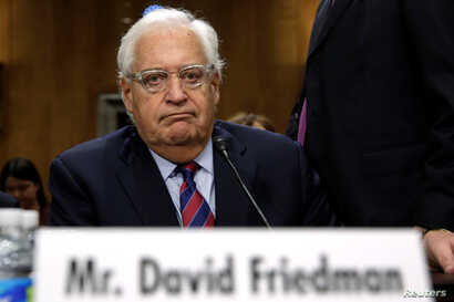 David Friedman testifies before a Senate Foreign Relations Committee hearing on his nomination to be U.S. ambassador to Israel, on Capitol Hill in Washington, Feb, 16, 2017..