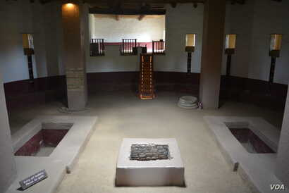 Signs within the interior of a restored Kiva at the Aztec Ruins National Monument urge visitors to respect the ancient space.